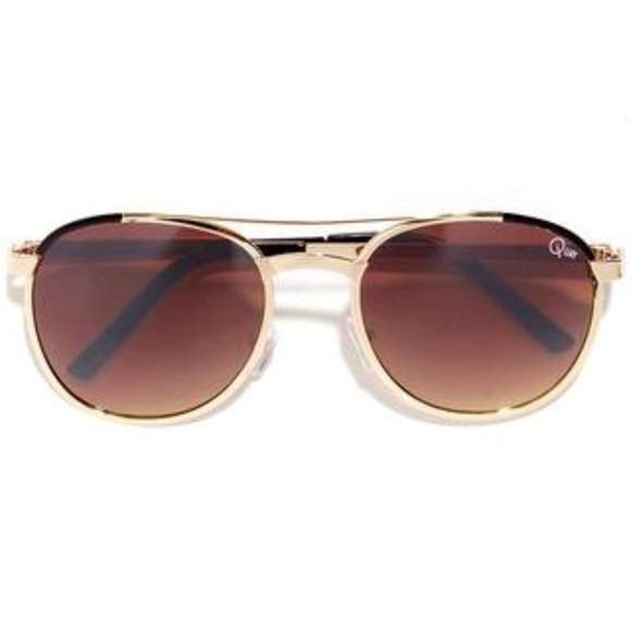 16911973ec The Quay Sundance Sunglasses- Brown and Gold
